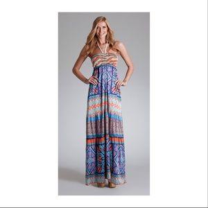 Hale bob silk boho maxi dress